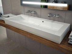 120cm waschbecken waschtisch doppelwaschbecken mit ablaufabdeckung - Waschbecken Bad
