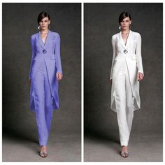 Vintage 2016 V-Neck Chiffon Mother's Pants Suits With Long Sleeves Formal Gowns Ankle Length Pant Mother Of The Bride