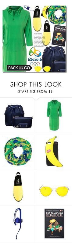 """Pack and Go: Rio"" by beebeely-look ❤ liked on Polyvore featuring Opening Ceremony, Kate Spade, Kenzo, Beats by Dr. Dre, Monocle, shirtdress, Brazil, rio, Packandgo and twinkledeals"