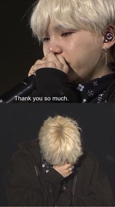 Suga crying during his ment BTS Wings Tour Final