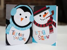 Christmas Characters - Set of 8 Cards