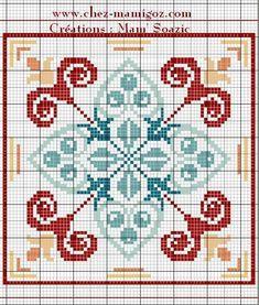 Biscornu Cross Stitch, Cross Stitch Art, Cross Stitch Borders, Counted Cross Stitch Patterns, Cross Stitching, Cross Stitch Embroidery, Plaid Patchwork, Cross Stitch Silhouette, Cushion Cover Designs