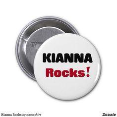 Kianna Rocks 2 Inch Round Button