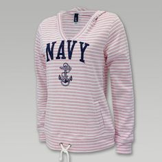 Navy V Neck Hoodie | ArmedForcesGear.com