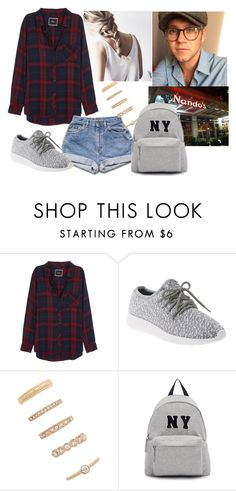 """#at Nandos"" by aries999 ❤ liked on Polyvore featuring Rails, Lane Bryant, Forever 21 and Joshua's"