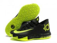 huge selection of c9a07 bf1f9 Shop Nike Kevin Durant KD 6 VI Black Neon Green For Sale Top Deals black,  grey, blue ...