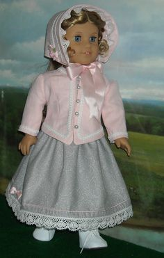 1850s Dress, Jacket & Hat for 18 inch Dolls