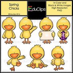 FREE Spring Chicks Clip Art Bundle