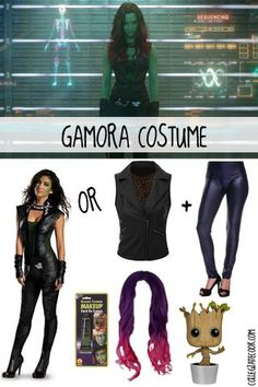 #Halloween13: Guardians of the Galaxy Costume Ideas - How to get Gamora's look