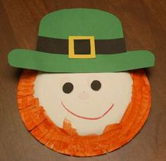 St. Patrick's Day art. On Paper Plates, with paint