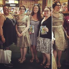 Retro Rack: 1950s Style eShakti Gold Cocktail Dress for Competence Book Launch in Denver