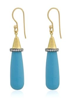 Lika Behar - Fiesta Turquoise and Diamond Earrings