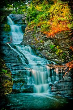 Raymondskill Falls - Milford, Pennsylvania by David Hahn