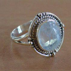 Moonstone RingSterling Silver RingPersonalized by DevmuktiJewels