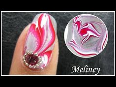 WATER MARBLE NAIL ART TUTORIAL | ENCHANTED FOREST RED FLOWER FEATHER NAIL DESIGN MANICURE EASY DIY - http://www.nailtech6.com/water-marble-nail-art-tutorial-enchanted-forest-red-flower-feather-nail-design-manicure-easy-diy/