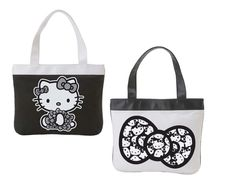"Hello Kitty® MONOCHROME Tote Bag  11"" Tall x 2"" x 13 1/2 Wide""  $38.00"