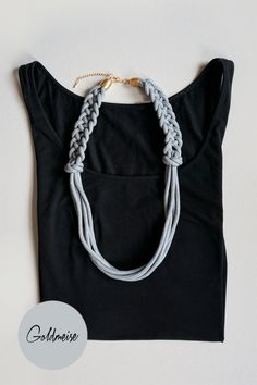 Ketten & Colliers - Kette 'Taria No.2' aus handgefärbtem Seil - ein Designerstück von Goldmeise bei DaWanda