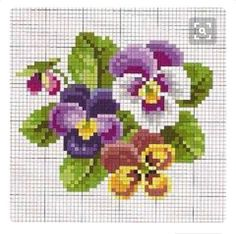 Brilliant Cross Stitch Embroidery Tips Ideas. Mesmerizing Cross Stitch Embroidery Tips Ideas. Cross Stitch Cards, Cross Stitch Flowers, Cross Stitching, Cross Stitch Embroidery, Embroidery Patterns, Cross Stitch Designs, Cross Stitch Patterns, Tapestry Crochet, Pansies