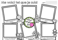 Me voici tel que je suis - Rentrée scolaire French Teacher, Teaching French, Desk Name Tags, French Resources, Back To School Activities, Too Cool For School, French Language, First Day Of School, Team Building