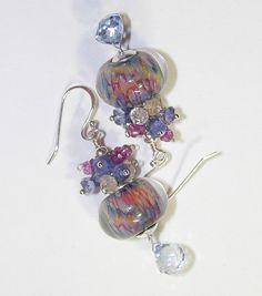 BlueBonnet Artisan Boro Bead Earrings