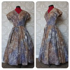 Vintage 1950's Mexican Dress with Full Circle Skirt by pursuingandie, $300.00