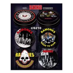 Ramones Coaster Set - Hey Ho! Let's Go! But first, set your drink down on a coaster from the Ramones' rockin' coaster set.