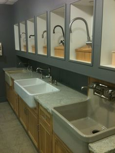 kitchen sinks and faucets galore front one would be perfect by the stove - Kitchen Sink Displays