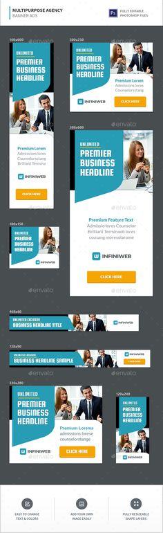 Multipurpose Agency Banners Template PSD. Download here: https://graphicriver.net/item/multipurpose-agency-banners/17125562?ref=ksioks