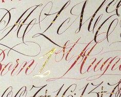 Ann Bowen, British calligrapher.  Love her style!