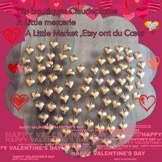 Lot de 100 pendentifs Cœurs vieil or : Supports pendentifs, cabochons par claudeplume