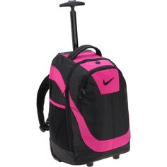 Save your back, roll your books! Image for Nike Deluxe Rolling Backpack from Academy