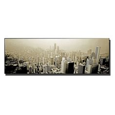 Chicago Skyline Canvas Art by Preston - EM033-C1024GG