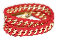 I Spy DIY: [my DIY] rope wrapped chain bracelet