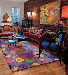 I have 8 Kim Parker prints in my house... what I wouldn't give for this room! I at least need the rug.