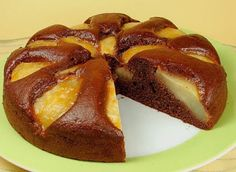 Tunisian Food, Cake Recipes, Dessert Recipes, Desserts With Biscuits, Pear Cake, Banoffee Pie, Cake Factory, Slow Food, Chocolate