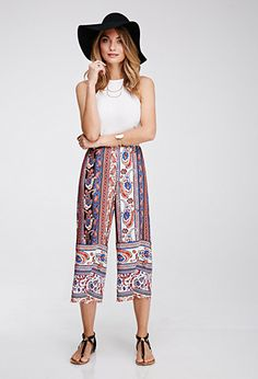 See how others are styling the paisley print culottes cream red x small. Check if your friends own the product and find other recommended products to complete the look. Outfits For Teens, Stylish Outfits, Cute Outfits, Fashion Outfits, Spring 2015 Fashion, Autumn Fashion, How To Style Culottes, Clothes Encounters, Pants For Women