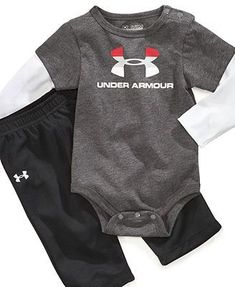 Under Armour Baby Set, Baby Boys Bodysuit and Pants Set #babyboyactivewear
