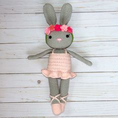 The Ballerina Bunny Doll is about 18 inches tall from slipper to ear and 4.5 inches wide. This Ballerina Bunny is the perfect doll for lit...