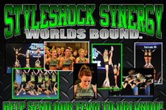 #cheer #cheerleading #cheerleadingworlds2014 Our Adult Open Level 6 team earned a bid to the Cheerleading Worlds and need your help getting there! Please re-pin this and help us get the word out!! Thank you! Send Styleshock Synergy to Worlds!