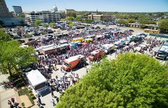 The Texas Food Truck Showdown in 2015 - Heritage Square in Downtown Waco.