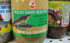 Pickled Snake Head Fish ...  So is it pickled snake head? Or is snake head a type of fish? Either way, I'm not eating it.