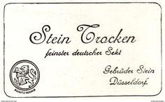 Original-Werbung / Anzeige 1907 - DEUTSCHER SEKT STEIN TROCKEN - DÜSSELDORF - Ca. 75 X 50 Mm - Werbung