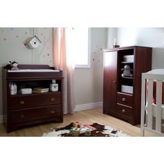 Fundy Tide 2 Drawer Royal Cherry Changing Table