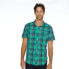 The prAna Zoltan Slim Shirt combines a plaid face, interior checks, and a sustainable origin to create a summer fave!  #FairTrade #FathersDay #apparel