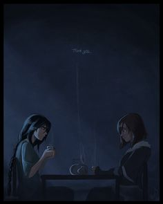 """""""I wasn't always lonely. The Avatar often came to visit me and give me tea""""   Kuvira and Korra   Balance   Legend of Korra   Avatar"""