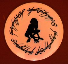 Hobbit LORD of THE RINGS Gollum - custom dyed disc golf disc - Innova Star. You pick the disc (made to order). $33.00, via Etsy. I really like this!