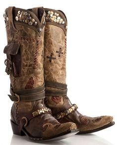 "Double D Ranch~Lane ""Frontier Trapper"" Boots!"