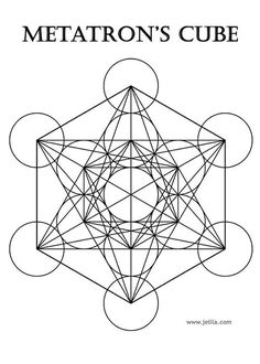 Metatron's Cube - White Greeting Card for Sale by Jelila Jelila