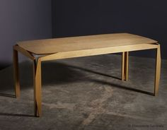 Stellar table. A handmade table created by the designers of the prestigious French laboratory Ebénisterie Générale.