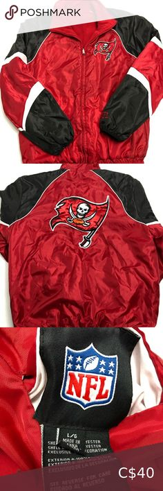 Shop Men's NFL Red size L Jackets & Coats at a discounted price at Poshmark. Plus Fashion, Fashion Tips, Fashion Trends, Tampa Bay, Motorcycle Jacket, Nfl, Coats, Man Shop, Jackets